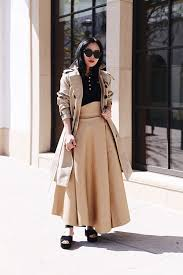 fashion blogger nordstrom collaboration burberry trench trench coat balloon sleeve trench burberry polo top black polo tee a w a k e full skirt