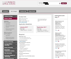 a user s guide to the common application my colleges tab 2