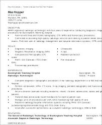 Resume For Radiologic Technologist Gorgeous Sample Resume Radiologic Technologist Technologist Resume Tech