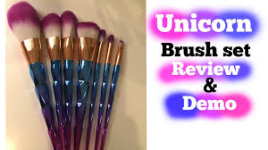 unicorn brush set. unicorn brushes 🦄 review \u0026 demo brush set