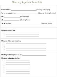 Agenda Template Doc Sociallawbook Co