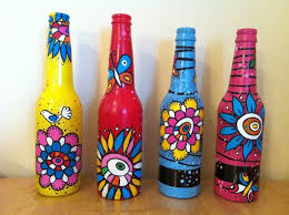DIY Painting Glass Jars And Bottles Tutorials  http://diyhomedecorguide.com/diy