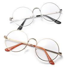 uni big round spectacles metal frame plain glasses vintage eyeglasses for men women at banggood sold out