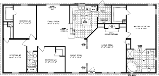 manufactured home floor plan the t n r model tnr 46811w 4 bedrooms 2