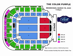 Color Purple Seating Chart Augusta Entertainment Complex James Brown Arena Bell