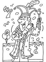 Kleurplaat Prins Carnaval