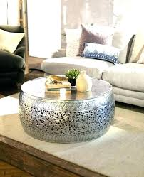 silver drum coffee table coffee table metal drum coffee table round