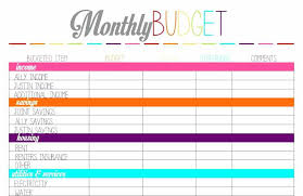 Free Printable Monthly Budget Worksheet Template Pdf Flexible Format ...