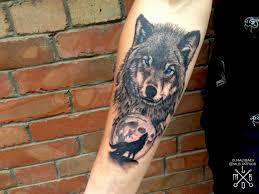 тату тату волка на предплечье