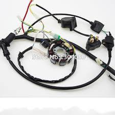 aliexpress com buggy wiring harness loom gy6 cdi electric start stator 8 coil c7hsa spark plug switch engine 150cc quad atv go kart kandi dazon from