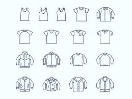 Sketching Clothing Casual Wear And Clothing Icons Sketch Freebie Download Free