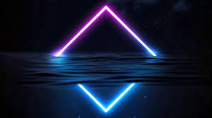 Glowing Triangle Neon, HD Abstract, 4k ...