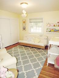 baby nursery pale yellow blue gray and white