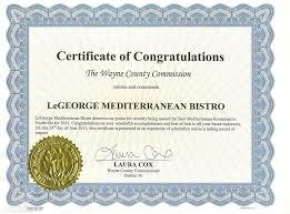 Congratulation Certificate Certificate Of Congratulations Le George