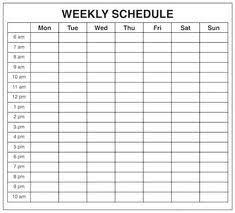 Blank One Week Calendar 11 Best Weekly Calendar Template Images