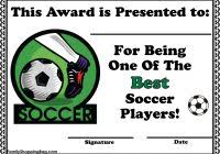 soccer awards templates free soccer award template best and various templates ideas