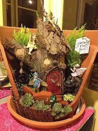 fairy garden pots. Broken-Pot-Fairy-Garden-10 Fairy Garden Pots