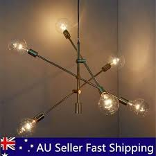 6 heads industrial chandelier light pendant lighting modern home ceiling fixture