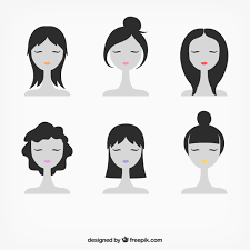 Female Faces Illustration Vector Free Download