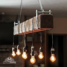 makarios decor rustic beam chandelier barn beam light