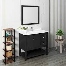 Fresca Manchester Single 42 Inch Modern Bathroom Vanity Set Black