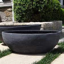 outdoor large round metal planters