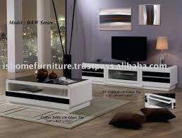 gorgeous tv unit and coffee table black glass stand in south awesome series home l