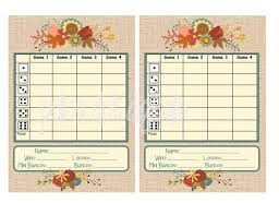 Bunco Score Sheets Template Enchanting Buy 48 Get 48 Free BURLAP Fall Bunco Score Card Set Sheet Etsy