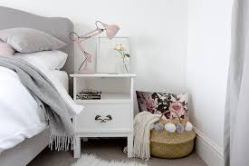 grey white bedroom. Interesting Bedroom Grey And White Bedroom With Blush Warm Metallic Accents Intended White Bedroom O