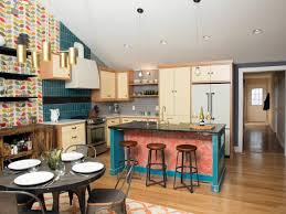 living room orla kiely multi: orla kiely spotted multi stem wallpaper on americas most desperate kitchens