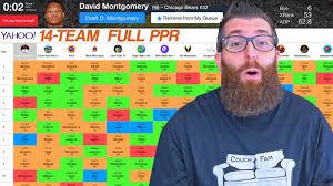 16 Team Snake Draft Order Chart Yahoo Fantasy Football Draft 2019 With Team Grades