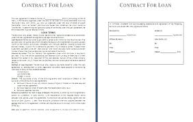 Writing A Loan Agreement Between Friends Basic Money Loan Contract ...