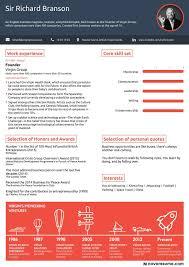 richard branson résumé follow your passion richard branson one page resume