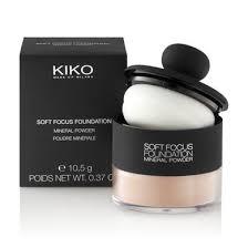 kiko make up milano soft focus foundation base de maquillaje mineral en polvo cero imperfecciones