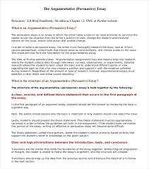Academic Argument Essay Examples 8 Argumentative Essay Examples Free Premium Templates