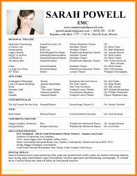 Actor Resume Template Free Acting Resume Templates Free Download Now 24 Inspirational 16