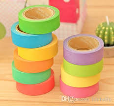 Best Masking Tape For Decorating Pure Color Washi Masking Tape Decorative Rainbow Washi Tape For 8