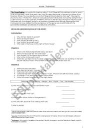 The Great Gatsby Character Chart Worksheet Answers The Great Gatsby Esl Worksheet By Denisegerbaix