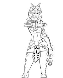 Small Picture Star Wars Coloring Pages Ahsoka Action Coloring Pages Girls