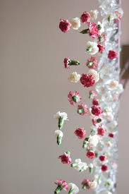 cascading chandelier flower garland diy