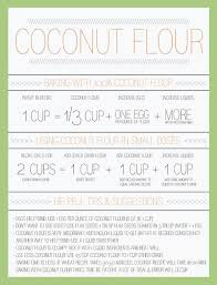 Coconut Flour Conversion Chart In 2019 Foods With Gluten