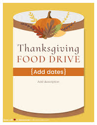 Food Drive Flyers Templates Want To Help Those In Need This Holiday Season Check Out