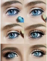 brown make up for blue eyes