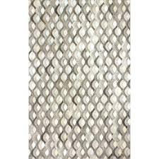 gray and cream rug grey trellis