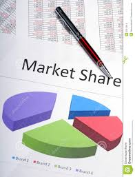 Marketing Pie Chart Showing Market Share Stock Photo Image