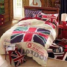 whole bedding set london british flag flat sheet duvet cover set for queen size 100 cotton bed linen comforter set two pillowcase queen comforters duvet