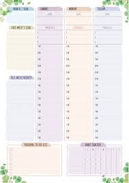 Personal Planner Template Printable Weekly Planner Templates Download Pdf