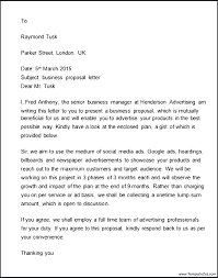 Proposal Letter Template Advertising Sales Samples