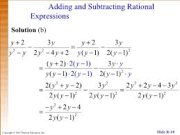 adding subtracting rational expressions like rational expressions and equations
