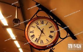 station clock in the underground
